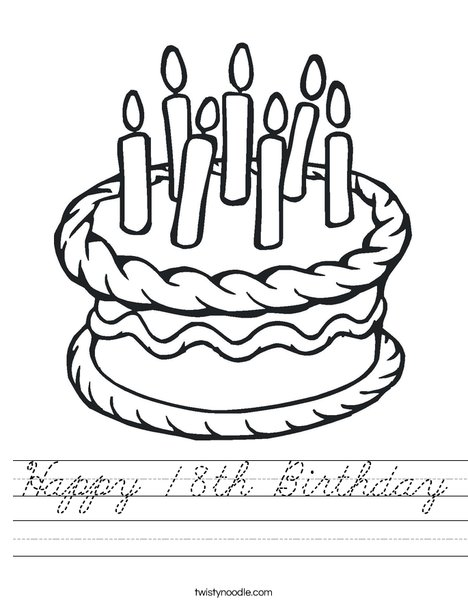 Cake with 7 candles Worksheet