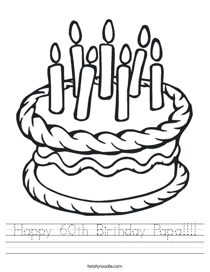 Happy 60th Birthday Papa!!!! Worksheet