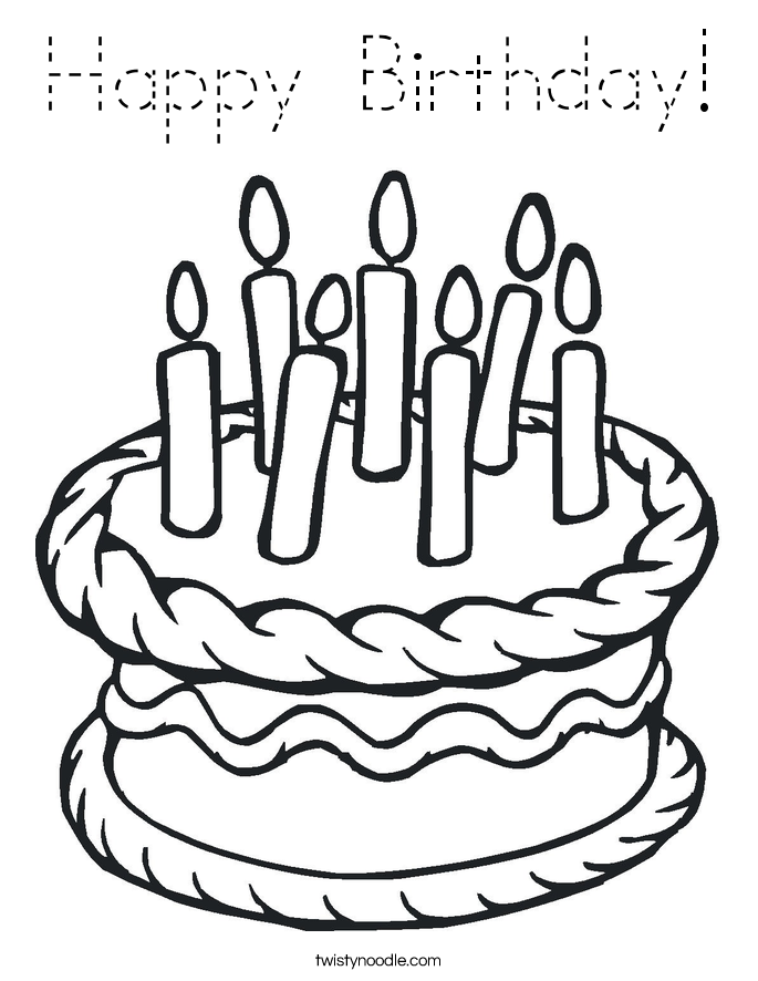1st Birthday Cupcake Coloring Page Happy Birthday Coloring Page
