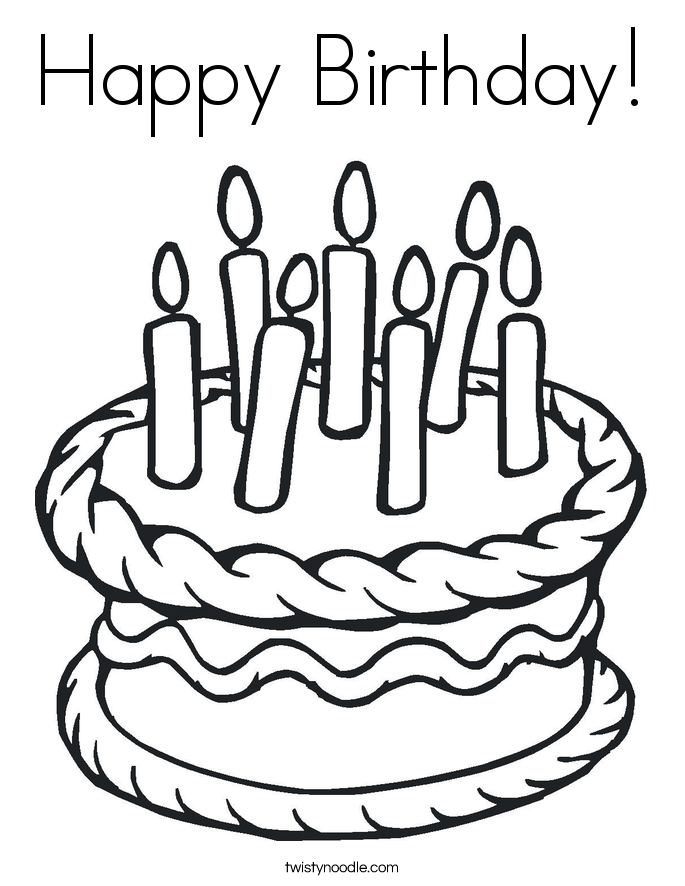 happy 1st birthday coloring pages - happy birthday coloring page twisty noodle