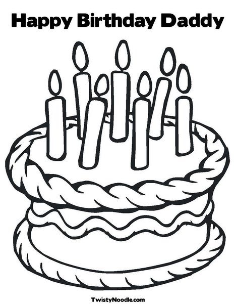 Free Printable Happy Birthday Coloring Pages | Paper Trail Design | 605x468