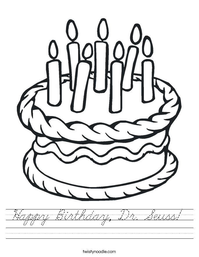 Happy Birthday, Dr. Seuss!  Worksheet