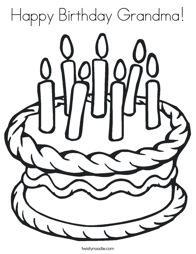 free birthday coloring pages grandmother - photo#50
