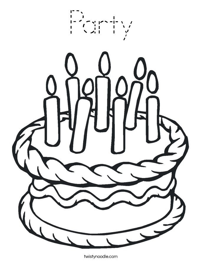 Party Coloring Page