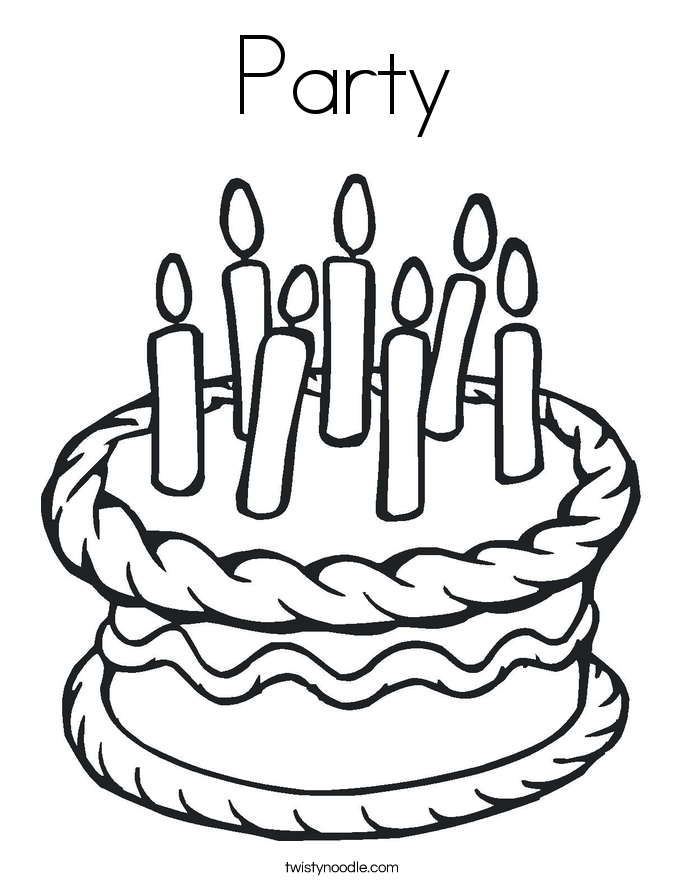 coloring pages party - photo#28