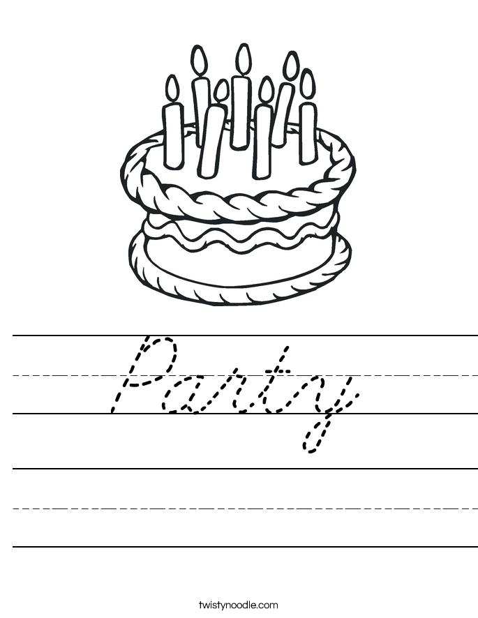 Party Worksheet