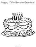 Happy 100th Birthday Grandma!Coloring Page
