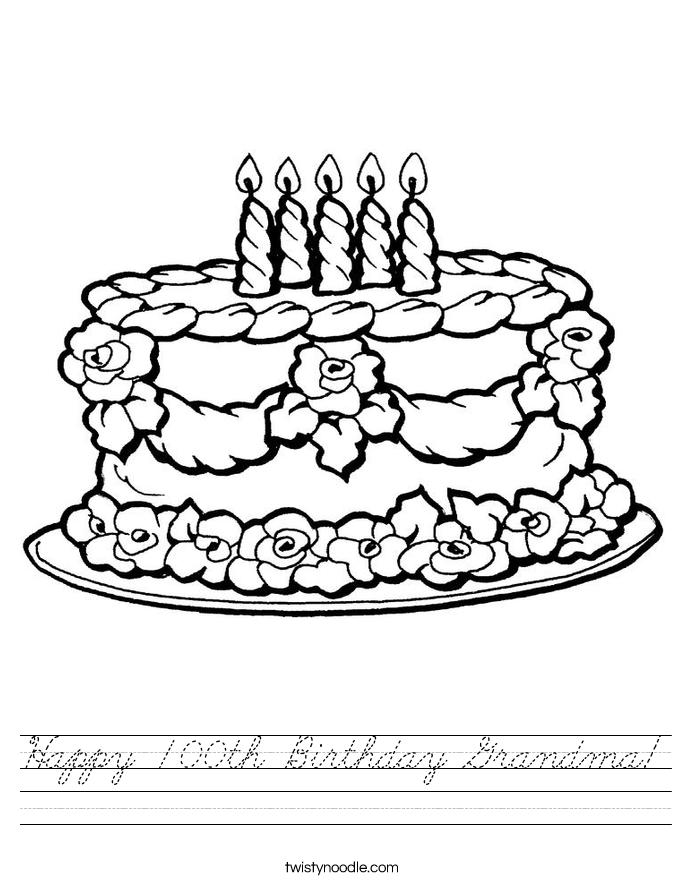 Happy 100th Birthday Grandma! Worksheet