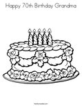 Happy 70th Birthday Grandma Coloring Page