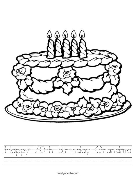 Cake with Candles Worksheet