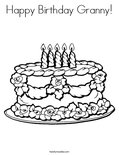 Happy Birthday Granny!Coloring Page
