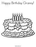 Happy Birthday Granny!Coloring Page