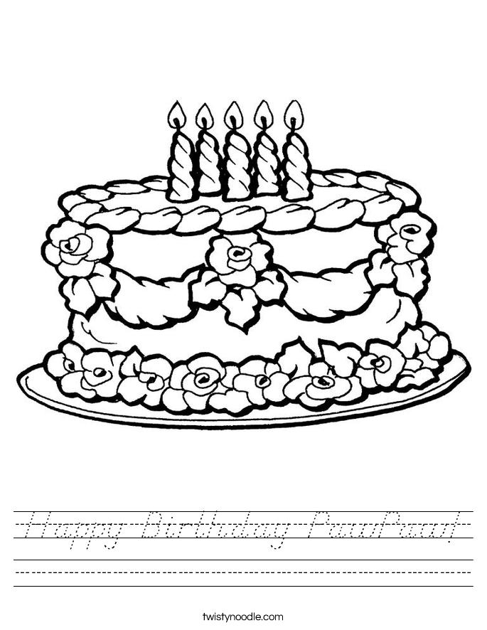 Happy Birthday PawPaw! Worksheet