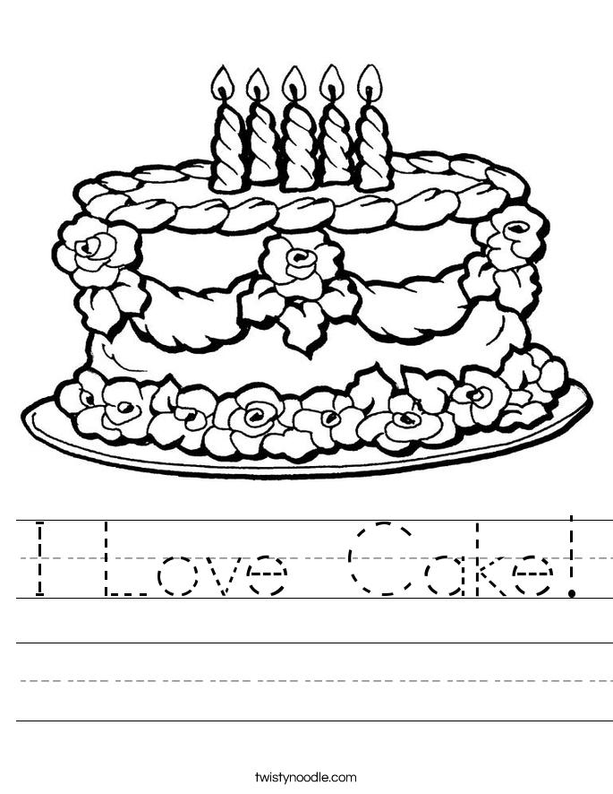 I Love Cake! Worksheet