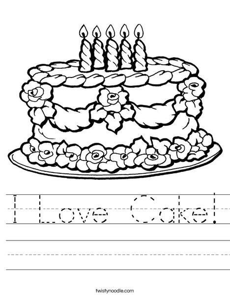 i love cake worksheet twisty noodle. Black Bedroom Furniture Sets. Home Design Ideas