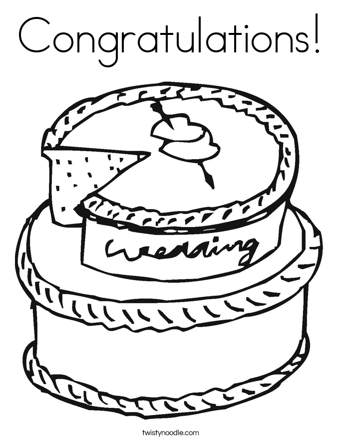 congratulations coloring page - Wedding Coloring Pages