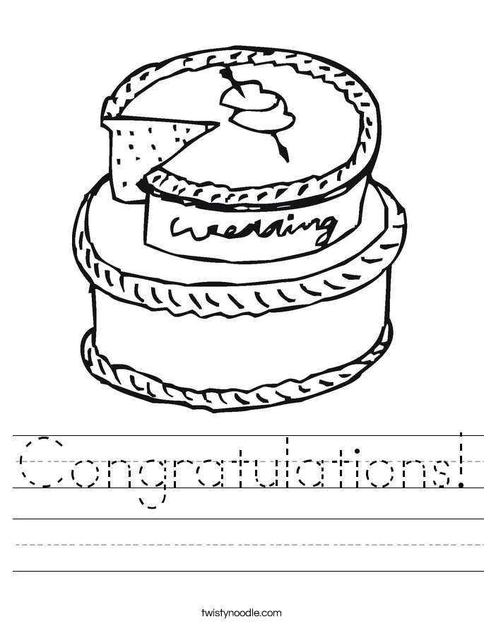 Congratulations! Worksheet