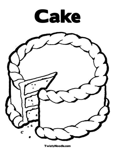 Cake Images For Colouring : Free coloring pages of birthday cake slices