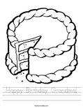 Happy Birthday Grandma! Worksheet