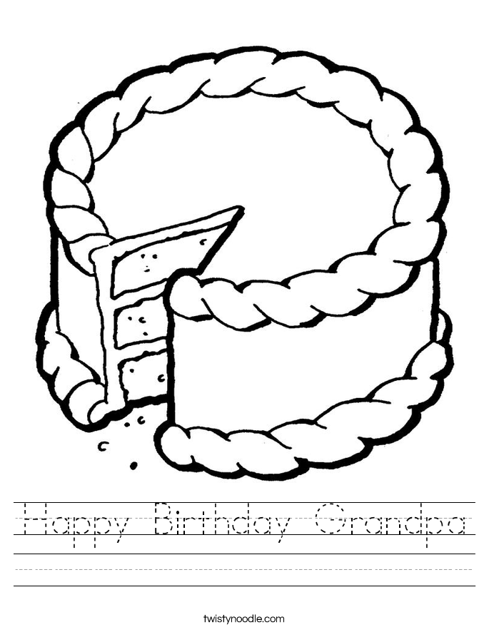 Happy Birthday Grandpa Worksheet