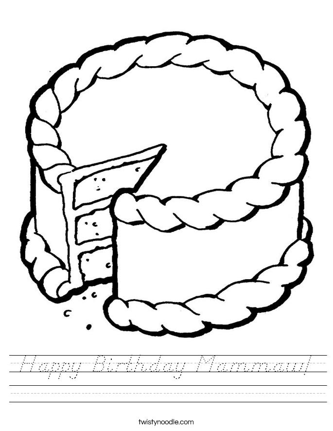 Happy Birthday Mammaw! Worksheet
