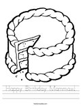 Happy Birthday Mammaw! Worksheet