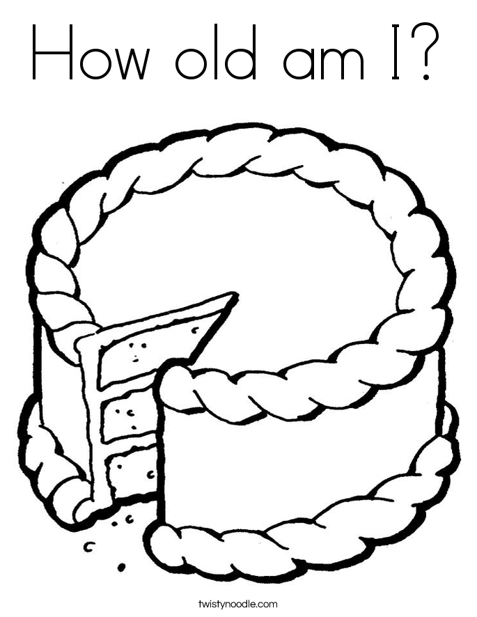 How old am I? Coloring Page