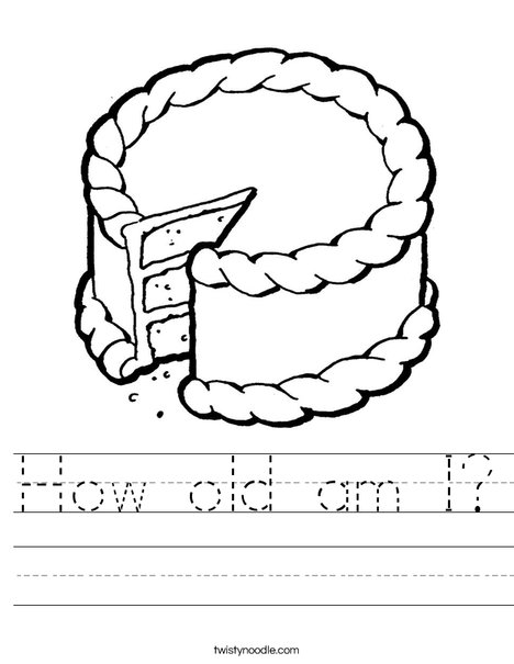 Cake with missing piece Worksheet