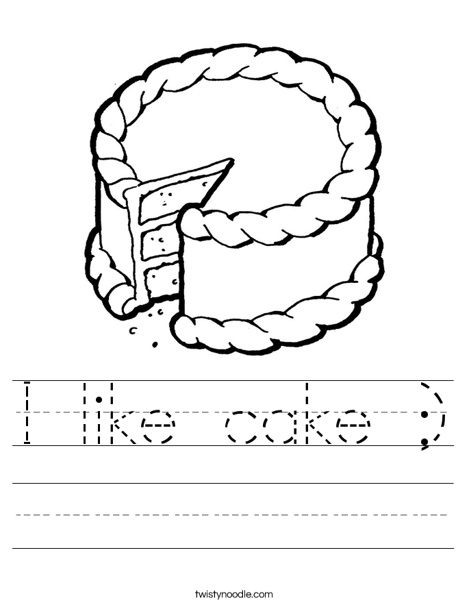 I like cake :) Worksheet