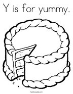 Y is for yummy Coloring Page