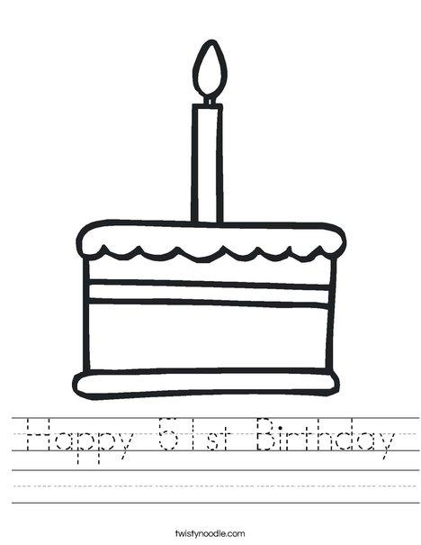 Happy 51st Birthday Worksheet - Twisty Noodle
