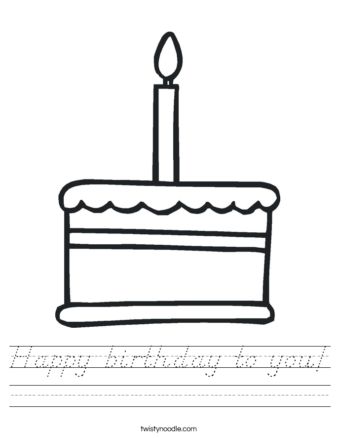 Happy birthday to you! Worksheet