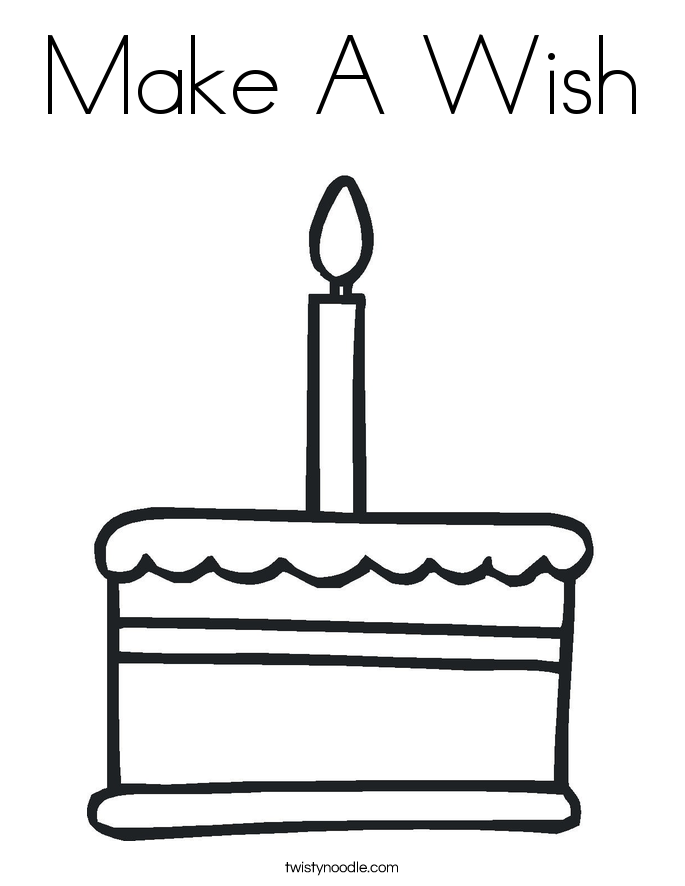 Make A Wish Coloring Page