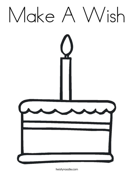 cake with one candle coloring page - Make Coloring Pages