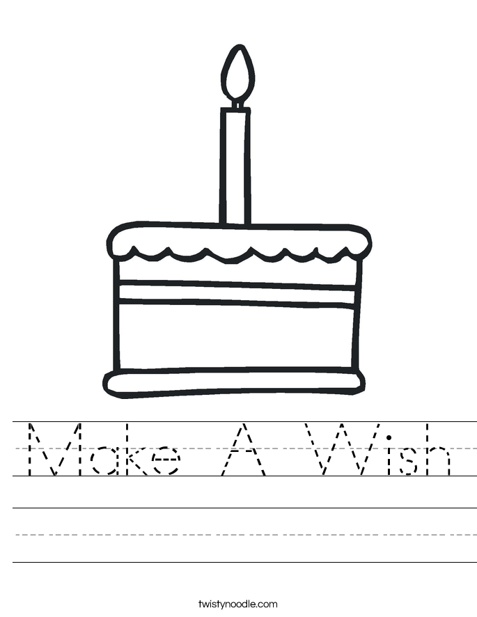 Make A Wish Worksheet