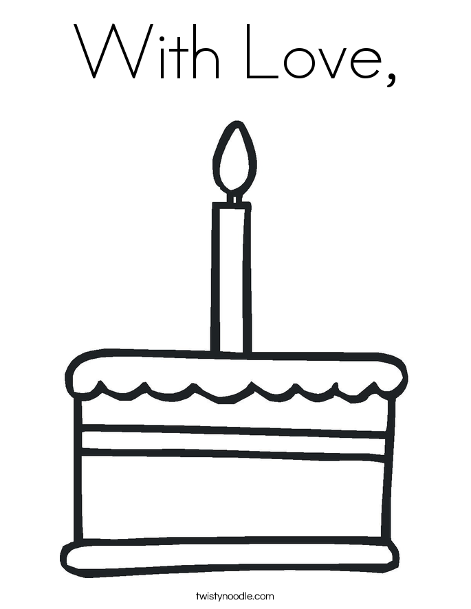 With Love, Coloring Page