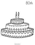 80th Coloring Page