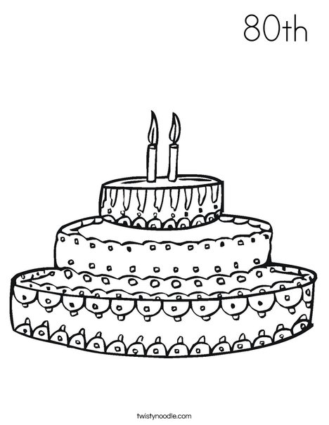 Cake Coloring Page