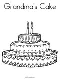 Grandma's Cake Coloring Page