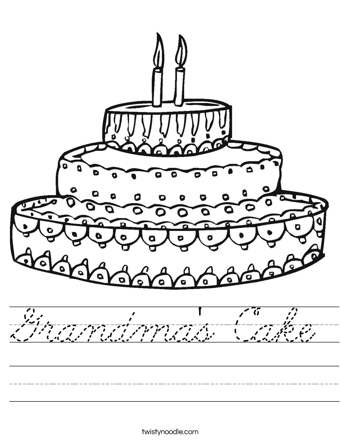 Grandma's Cake Worksheet