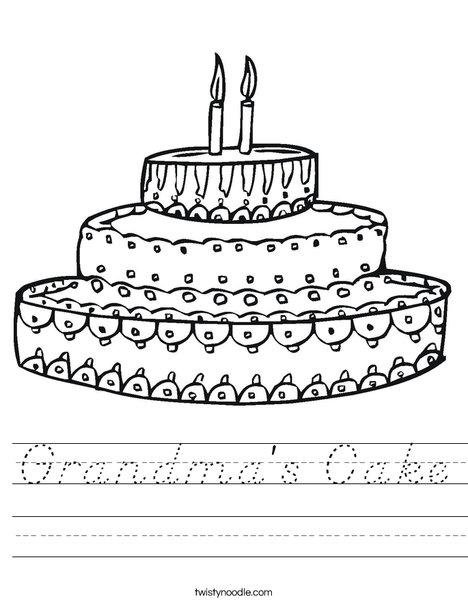 Cake Worksheet