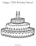Happy 100th Birthday Nanna!Coloring Page