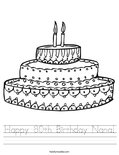 Happy 80th Birthday Nana! Worksheet
