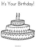 It's Your Birthday!Coloring Page