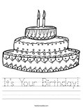 It's Your Birthday! Worksheet