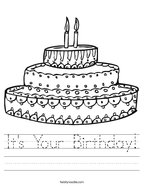 It's Your Birthday Handwriting Sheet
