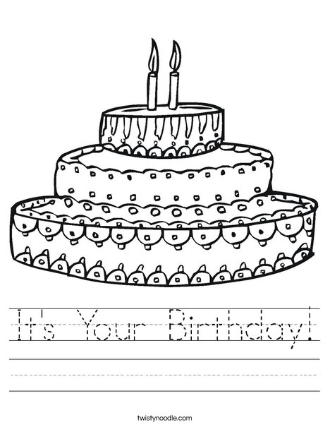 Cake Worksheet