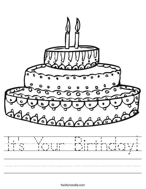 it 39 s your birthday worksheet twisty noodle. Black Bedroom Furniture Sets. Home Design Ideas