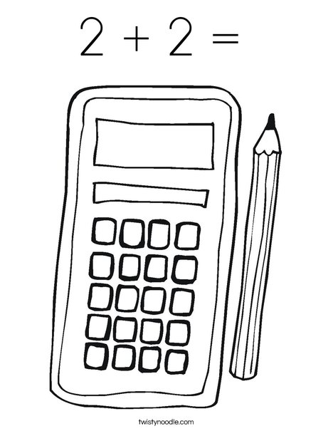 Calculator Coloring Page