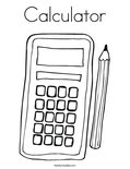 CalculatorColoring Page